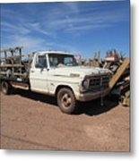 Antique Ford Truck Metal Print