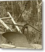 Antique One Share Plow Metal Print