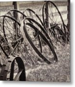 Antique Wagon Wheels I Metal Print