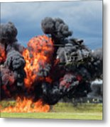Boeing Apache Longbow  Helicopter Exercise Metal Print