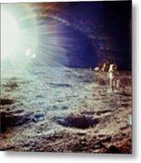 Apollo 12 Astronaut Metal Print