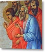 Appearance Of Christ To The Apostles Fragment 1311  Metal Print