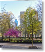 April In Rittenhouse Square Metal Print