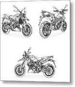 Aprilia Smv 900 Dorsoduro Drawing Metal Print