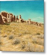 Arches 2 Metal Print by Jan Amiss