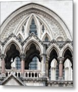 Arches Over The Court Metal Print