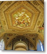 Architectural Artistry Within The Vatican Museum In The Vatican City Metal Print