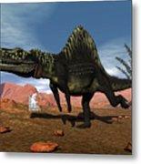 Arizonasaurus Dinosaur - 3d Render Metal Print