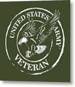 Army Veteran Metal Print