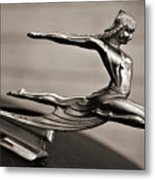 Art Deco Hood Ornament Metal Print