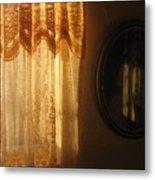 Art Homage Edward Hopper Winter Light  Window Curtain Reflection Bedroom Casa Grande Arizona 2005  Metal Print