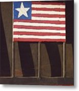 Art Homage Jasper Johns Flag Window Silver Dollar Bar Eloy Arizona 2004 Metal Print