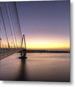 Arthur Ravenel Jr Bridge Sunrise Metal Print