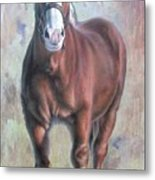 Arthur The Belgian Horse Metal Print