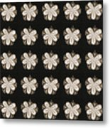Artistic Sparkle Floral Black And White Graphic Art Very Elegant One Of A Kind Work That Will Show G Metal Print