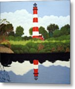 Assateague Island Lighthouse Metal Print