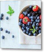 Assortment Of Berries Metal Print