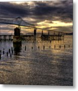 Astoria-megler Bridge 5 Metal Print