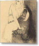 "At The Renaissance: Sarah Bernhardt In ""phedre"" (a La Renaissance: Sarah Bernhardt Dans ""ph?dre"") Metal Print"