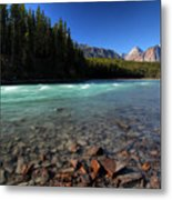 Athabasca River In Jasper National Park Metal Print by Mark Duffy