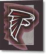 Atlanta Falcons Logo T-shirt Metal Print
