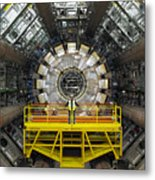 Atlas Detector, Cern Metal Print by David Parker