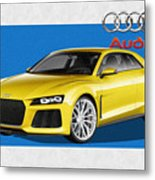 Audi Sport Quattro Concept With 3 D Badge  Metal Print