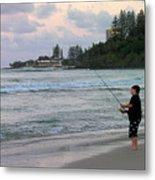 Australia - Fisherman At Greenmount Beach Metal Print