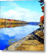 Autumn Afternoon On The Schuykill River Metal Print