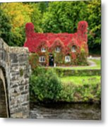 Autumn Cottage Metal Print