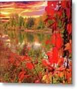 Autumn Garlands Metal Print