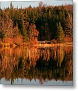 Autumn Lake Metal Print by Kate  Leikin