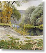 Autumn Landscape In The Vicinity Of Eshar Metal Print