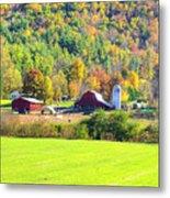 Autumn On The Farm Metal Print