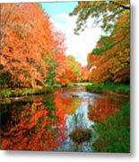 Autumn On The Mersey River, Kejimkujik National Park, Nova Scotia, Canada Metal Print