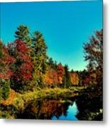 Autumn Splendor On The Moose River Metal Print