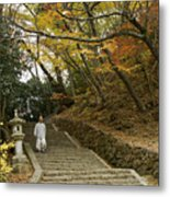 Autumn Stairway Metal Print