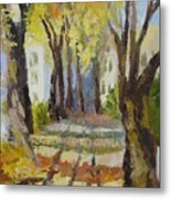 Autumn Street Metal Print