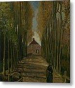 Avenue Of Poplars In Autumn Nuenen, October 1884 Vincent Van Gogh 1853 - 1890 Metal Print
