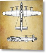 Avro Lancaster Bomber Metal Print