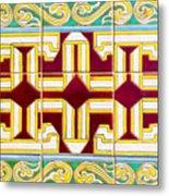 Azulejo - Geometrical Decoration  3 Metal Print