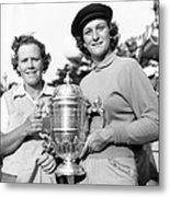 Patty Berg And Babe Didrikson Metal Print