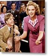 Babes In Arms, From Left Mickey Rooney Metal Print by Everett