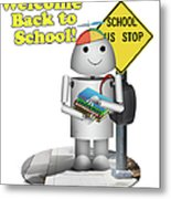 Back To School Little Robox9 Metal Print