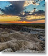 Badlands Np Wilderness Overlook 4 Metal Print