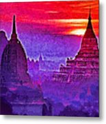 Bagan Sunrise Metal Print