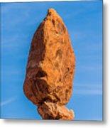 Balanced Rock In Arches National Park Near Moab  Utah At Sunset Metal Print