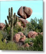 Balancing Act In The Arizona Desert 2 Metal Print