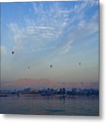 Ballooning Over The Nile Metal Print