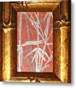 Golden Bamboo Metal Print